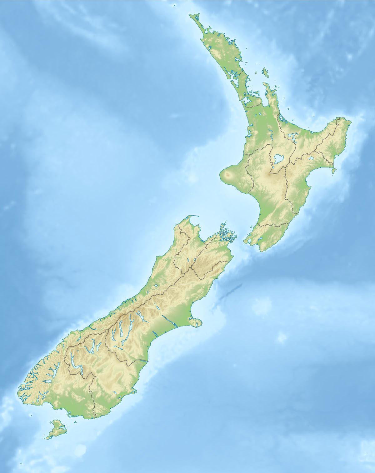 Neuseeland Physische Karte Neu Seeland Physikalischen